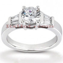 14K Gold Handmade Diamond Engagement Ring Mounting 0.16ct