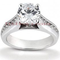 14K Gold Diamond Engagement Ring Mounting 0.18ct