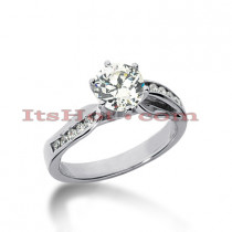 14K Gold Diamond Engagement Ring Mounting 0.19ct