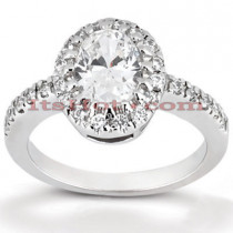 Halo 14K Gold Diamond Engagement Ring Mounting 0.20ct