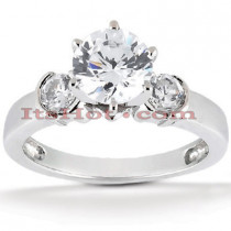 14K Gold Prong and Bezel Diamond Engagement Ring Mounting 0.20ct