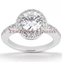 Halo 14K Gold Diamond Engagement Ring Mounting 0.22ct