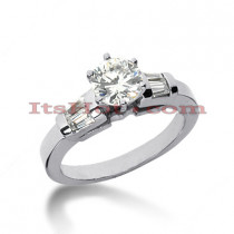 14K Gold Prong and Bar Set Diamond Engagement Ring Mounting 0.24ct