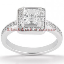 14K Gold Handcrafted Diamond Engagement Ring Mounting 0.28ct