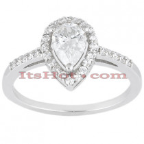 Halo 14K Gold Diamond Engagement Ring Mounting 0.28ct
