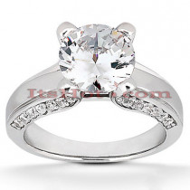 14K Gold Diamond Engagement Ring Mounting Handcrafted 0.30ct