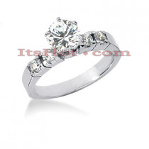 14K Gold Diamond Engagement Ring Mounting 0.36ct