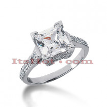 14K Gold Handcrafted Diamond Engagement Ring Mounting 0.38ct