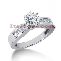 14K Gold Diamond Engagement Ring Mounting Handcrafted 0.38ct