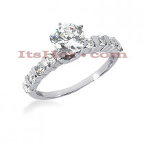 14K Gold Diamond Engagement Ring Mounting 0.40ct