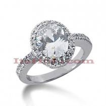 14K Gold Handcrafted Diamond Engagement Ring Mounting 0.42ct