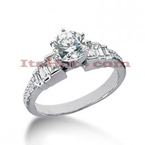 14K Gold Diamond Engagement Ring Mounting Handcrafted 0.44ct