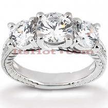 14K Gold Diamond Engagement Ring Mounting 0.45ct