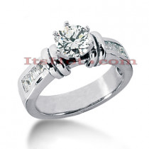 14K Gold Diamond Handcrafted Engagement Ring Mounting 0.46ct
