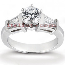 Handcrafted 14K Gold Diamond Engagement Ring Mounting 0.48ct