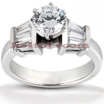 14K Gold Diamond Handcrafted Engagement Ring Mounting 0.48ct