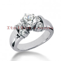 Prong Set 14K Gold Diamond Engagement Ring Mounting 0.48ct