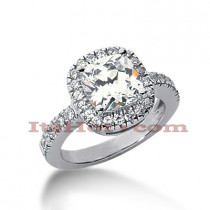 14K Gold Handcrafted Diamond Engagement Ring Mounting 0.50ct