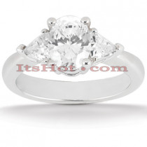 14K Gold Diamond Engagement Ring Mounting 0.50ct Handcrafted