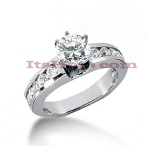 14K Gold Handmade Round Diamond Engagement Ring Mounting 0.52ct