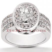 14K Gold Handcrafted Diamond Engagement Ring Mounting 0.54ct