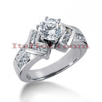 Handcrafted 14K Gold Diamond Engagement Ring Mounting 0.55ct