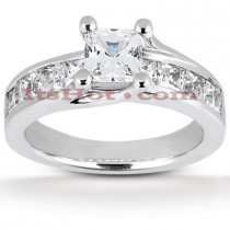 14K Gold Handcrafted Diamond Engagement Ring Mounting 0.55ct