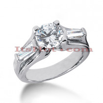 14K Gold Diamond Engagement Ring Mounting 0.56ct