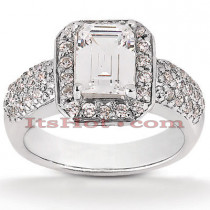 14K Gold Diamond Handcrafted Engagement Ring Mounting 0.60ct