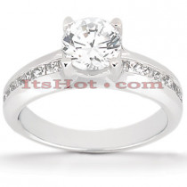 14K Gold Diamond Engagement Ring Mounting 0.63ct