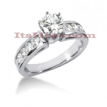 14K Gold Diamond Engagement Ring Mounting 0.64ct