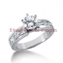 14K Gold Diamond Engagement Ring Mounting 0.72ct
