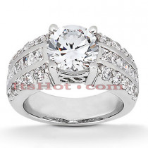 14K Gold Diamond Engagement Ring Mounting 0.75ct