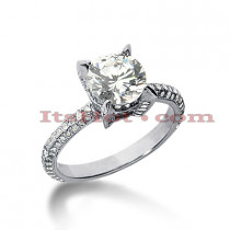 14K Gold Diamond Engagement Ring Mounting 0.76ct