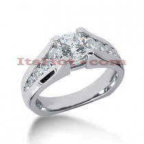 14K Gold Diamond Engagement Ring Mounting 0.78ct