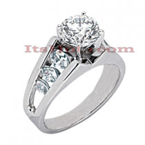 14K Gold Diamond Engagement Ring Mounting 0.82ct