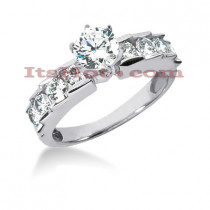 14K Gold Diamond Engagement Ring Mounting 0.92ct