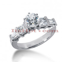 14K Gold Diamond Engagement Ring Mounting 0.96ct