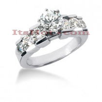 14K Gold Diamond Engagement Ring Mounting 1.04ct