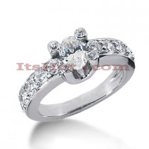 14K Gold Diamond Engagement Ring Mounting 1.06ct