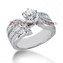14K Gold Diamond Engagement Ring Mounting 1.07ct