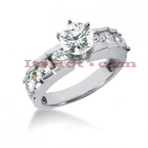 14K Gold Diamond Engagement Ring Mounting 1.08ct