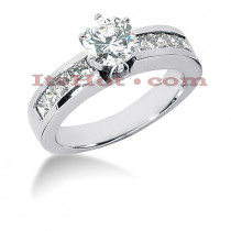 14K Gold Diamond Engagement Ring Mounting 1.12ct