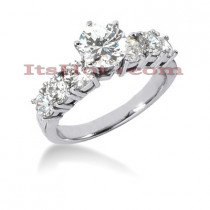 14K Gold Diamond Engagement Ring Mounting 1.20ct