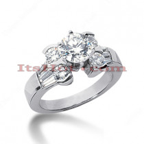 14K Gold Diamond Engagement Ring Mounting 1.24ct