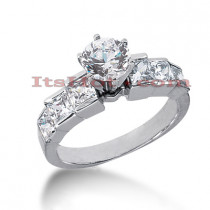 14K Gold Diamond Engagement Ring Mounting 1.48ct