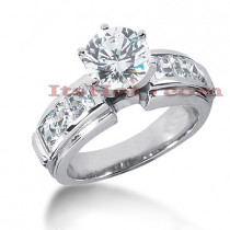 14K Gold Diamond Engagement Ring Mounting 1.62ct