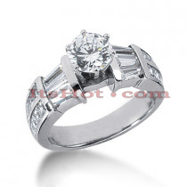 14K Gold Diamond Engagement Ring Mounting 1.80ct