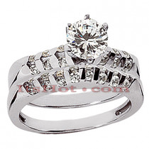 14K Gold Diamond Engagement Ring Set 0.76ct