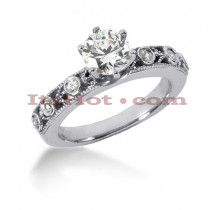 14K Gold Diamond Engagement Ring Setting 0.12ct